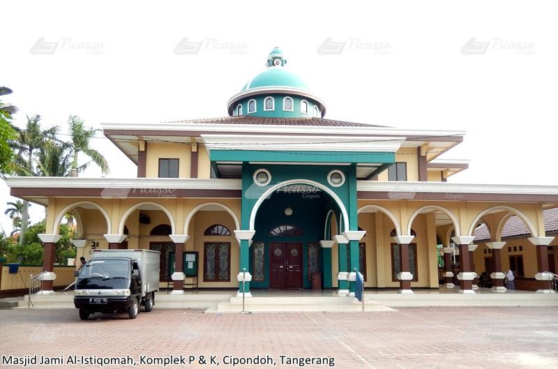 Karpet Masjid Jami Al-Istiqomah, Komple P dan K, Cipondoh, Tangerang
