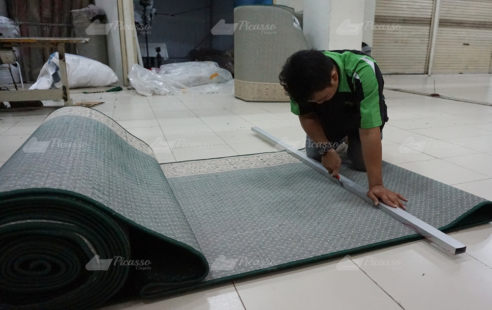 karpet masjid hijau, kutai timur