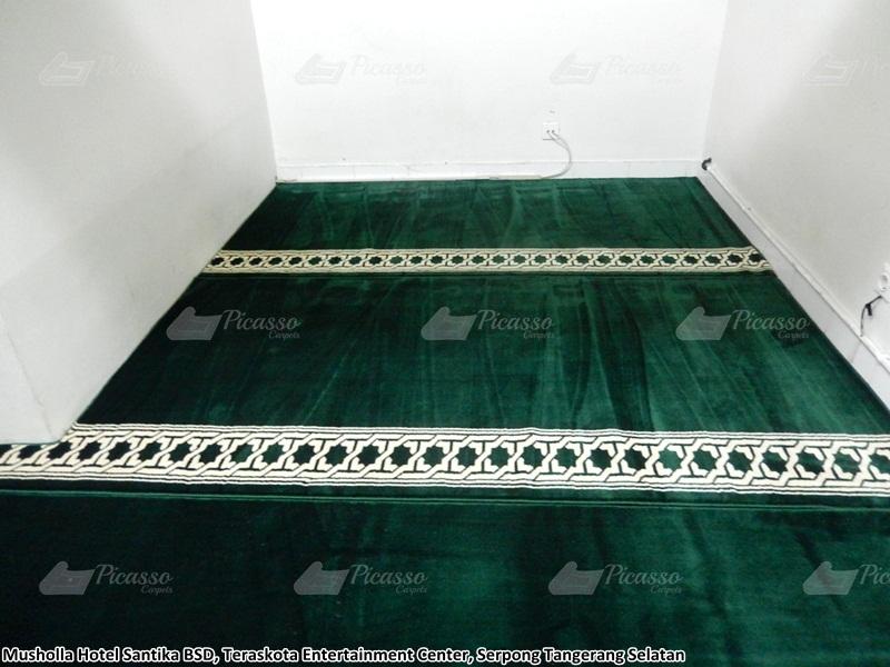 karpet masjid hijau, serpong, tangerang selatan