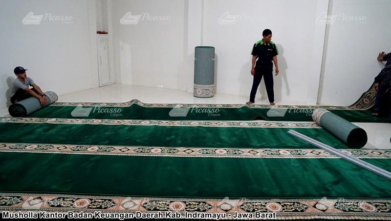 karpet masjid hijau indramayu
