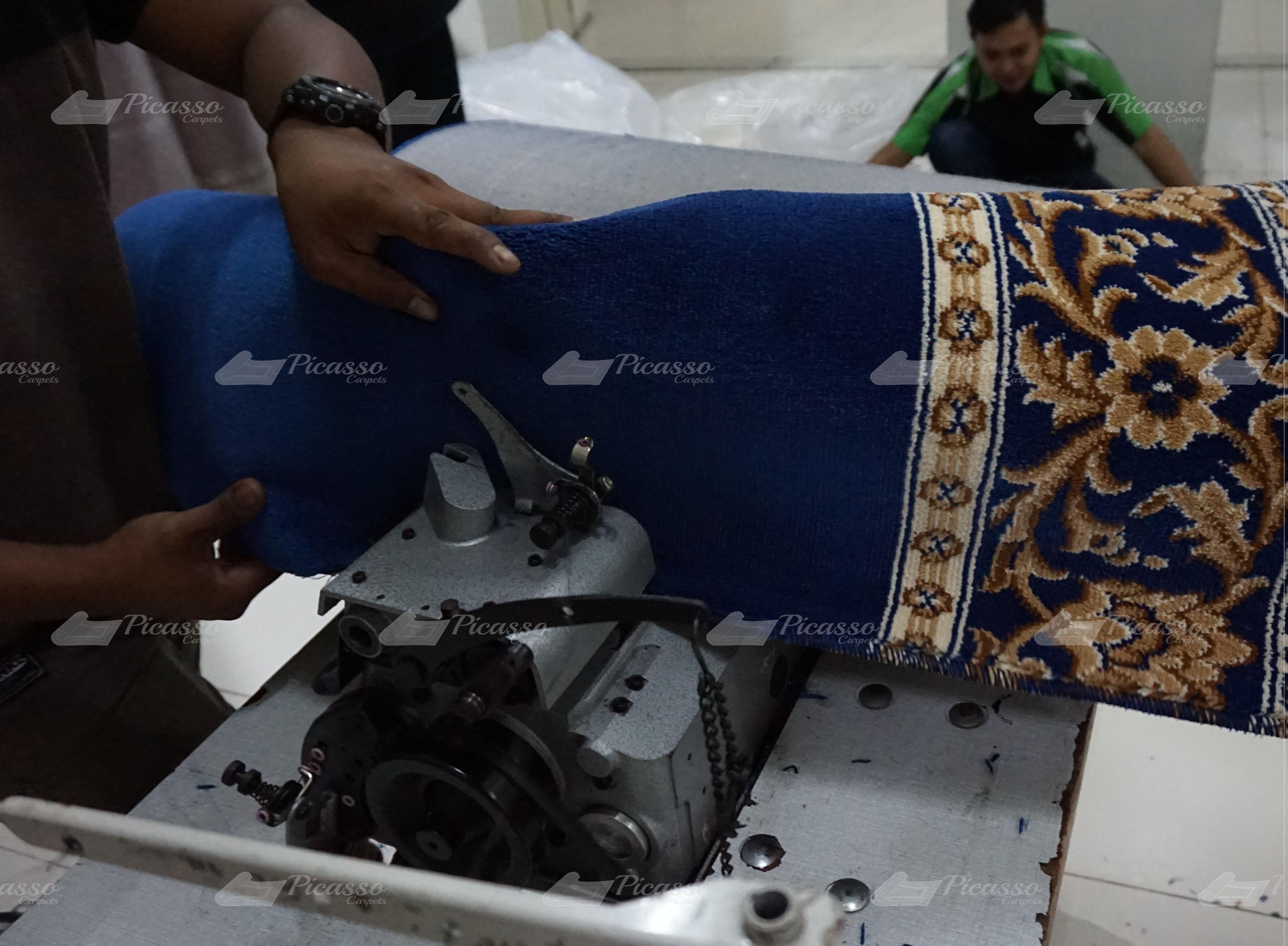 karpet masjid biru Lombok