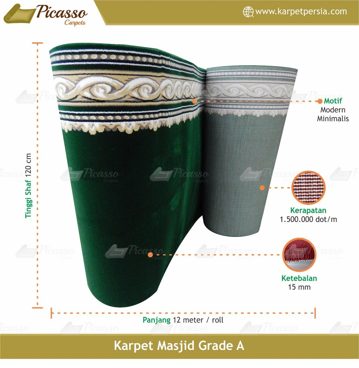 karpet masjid hijau grade a2