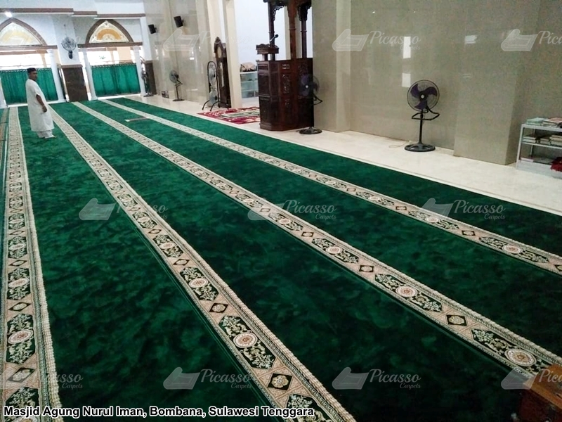 Karpet Masjid Agung Nurul Iman Bombana Sulawesi Tenggara