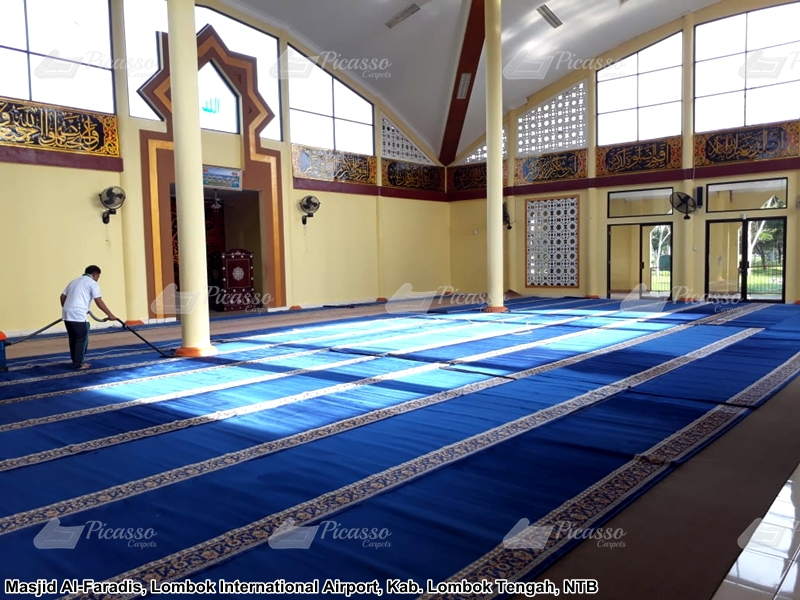 Karpet Masjid Al Faradis Lombok International Airport
