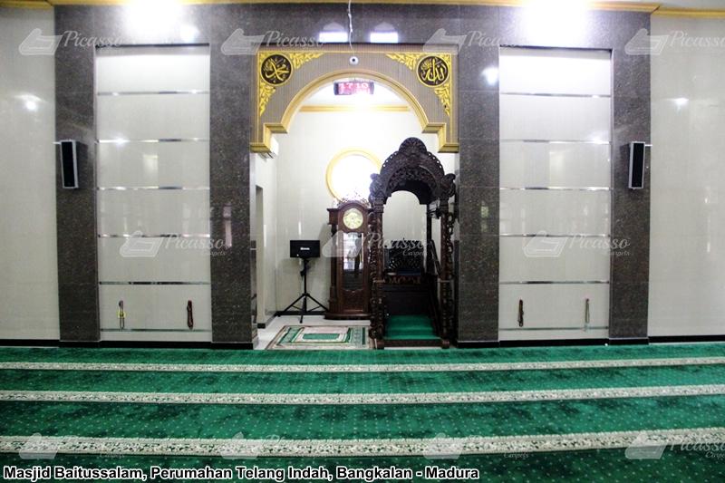 Karpet Masjid Baitussalam, Perumahan Telang Indah, Bangkalan, Madura