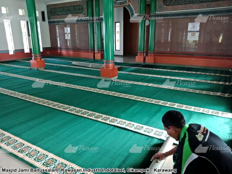 Karpet Masjid Baitussalam Indotaisei Cikampek