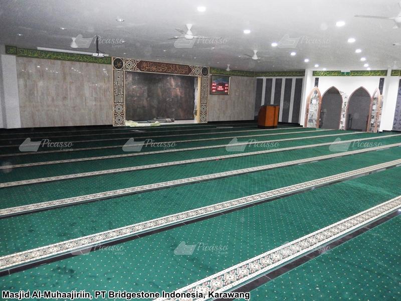 karpet masjid al-muhaajirin karawang