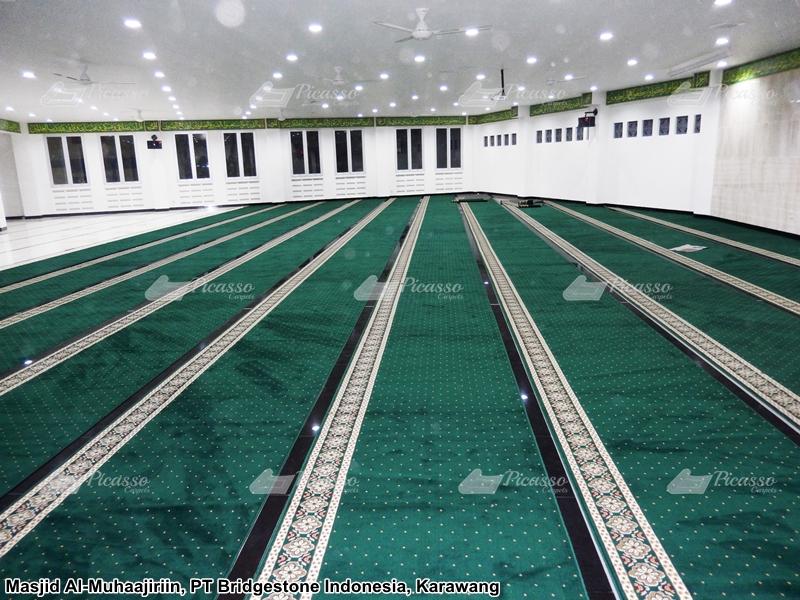 karpet masjid hijau karawang