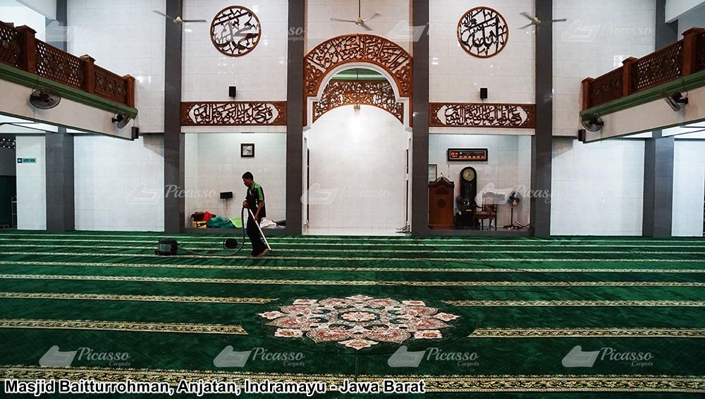 Karpet Masjid Baiturohman Anjatan Indramayu