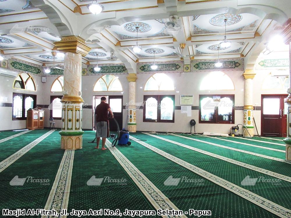 karpet masjid minimalis hijau jayapura