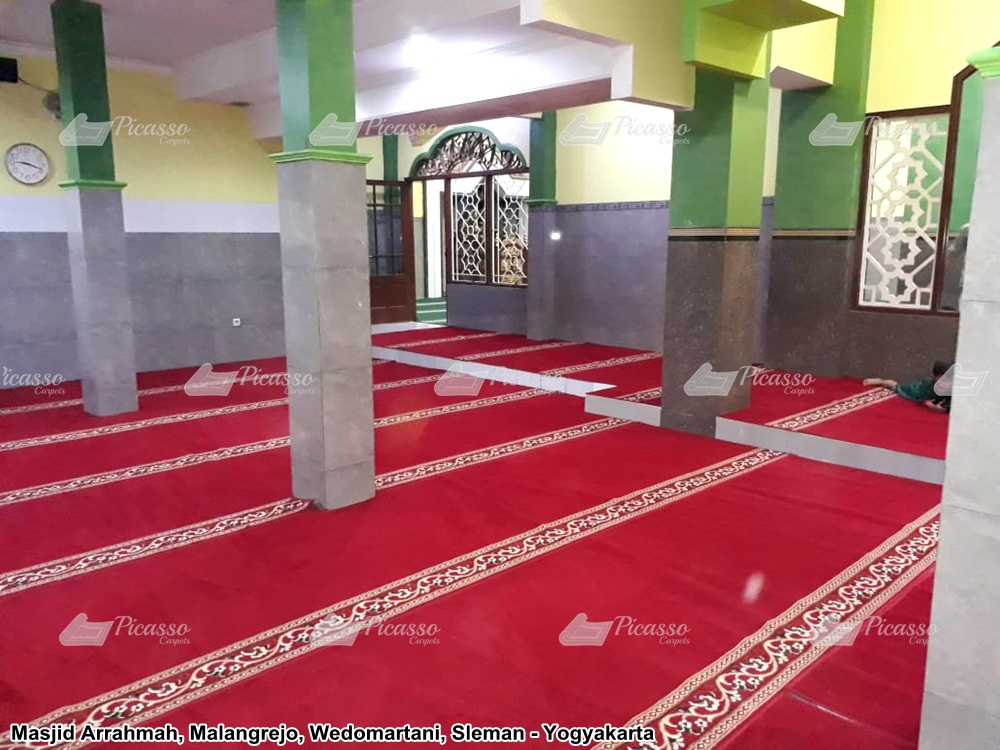 Karpet Masjid Arrahmah, Malangrejo Wedomartani Sleman Yogyakarta