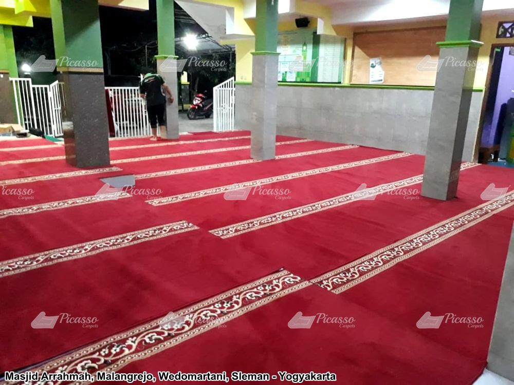 karpet masjid merah minimalis arrahmah