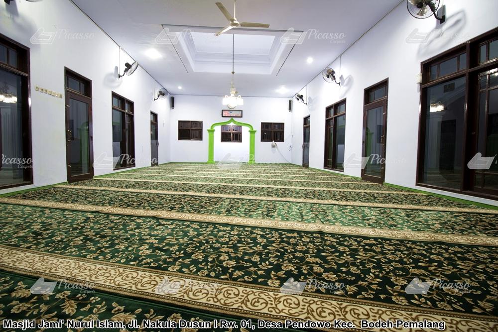 Karpet Masjid Jami Nurul Islam Ds Pendowo, Bodeh – Pemalang Jawa Tengah