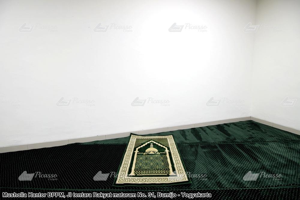 karpet masjid hijau minimalis kantor bppm jogja