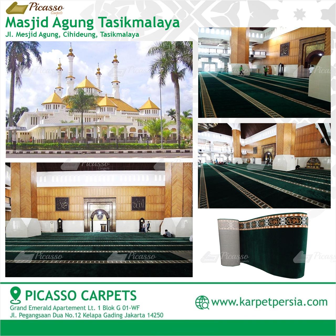 karpet masjid hijau tasikmalaya