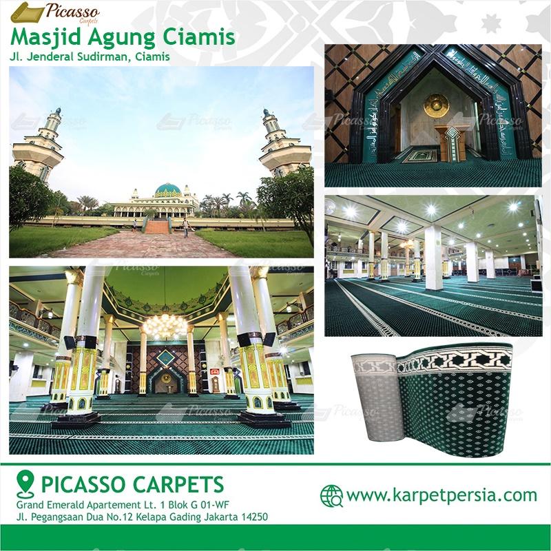 karpet masjid hijau ciamis