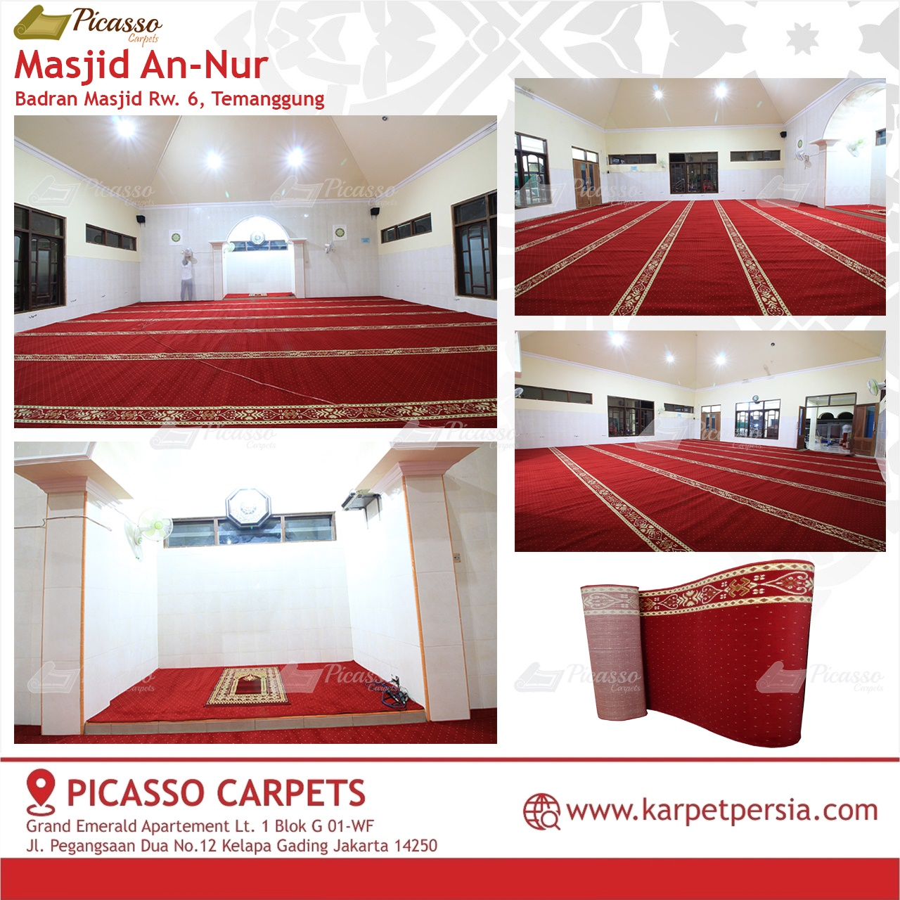 karpet masjid merah temanggung