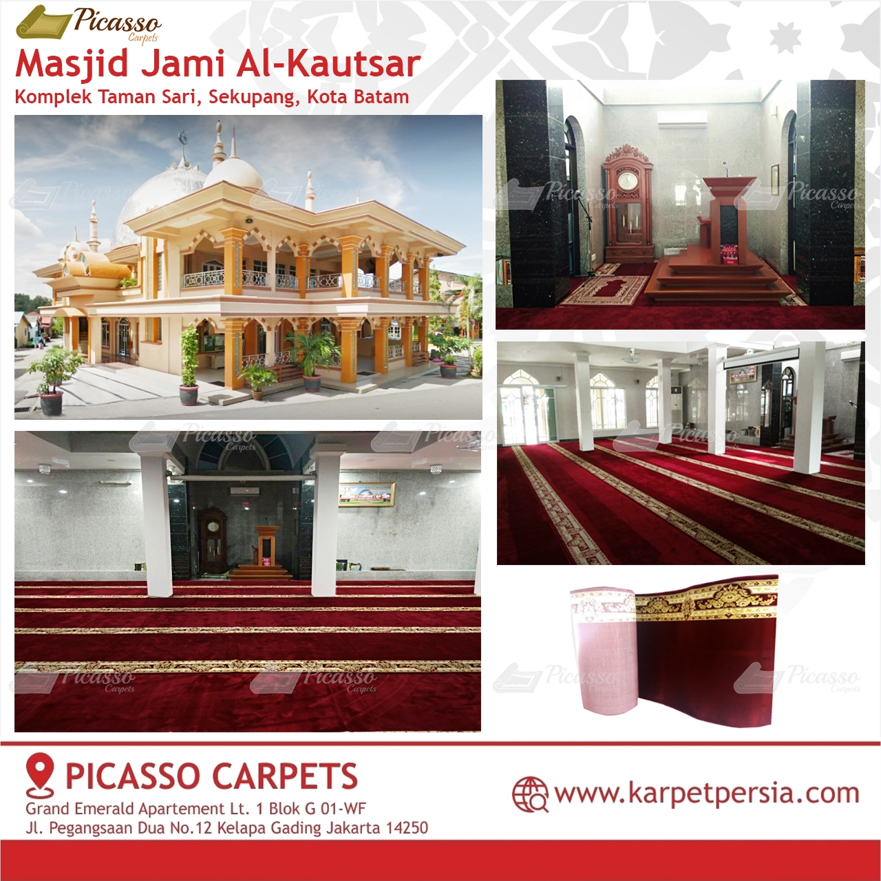 karpet masjid merah batam