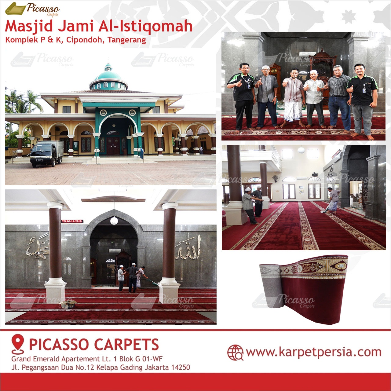 karpet masjid merah cipondoh