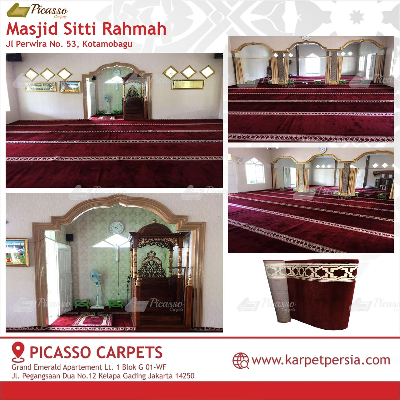 karpet masjid merah kotamobagu