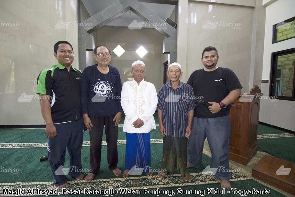 karpet masjid hijau minimalis