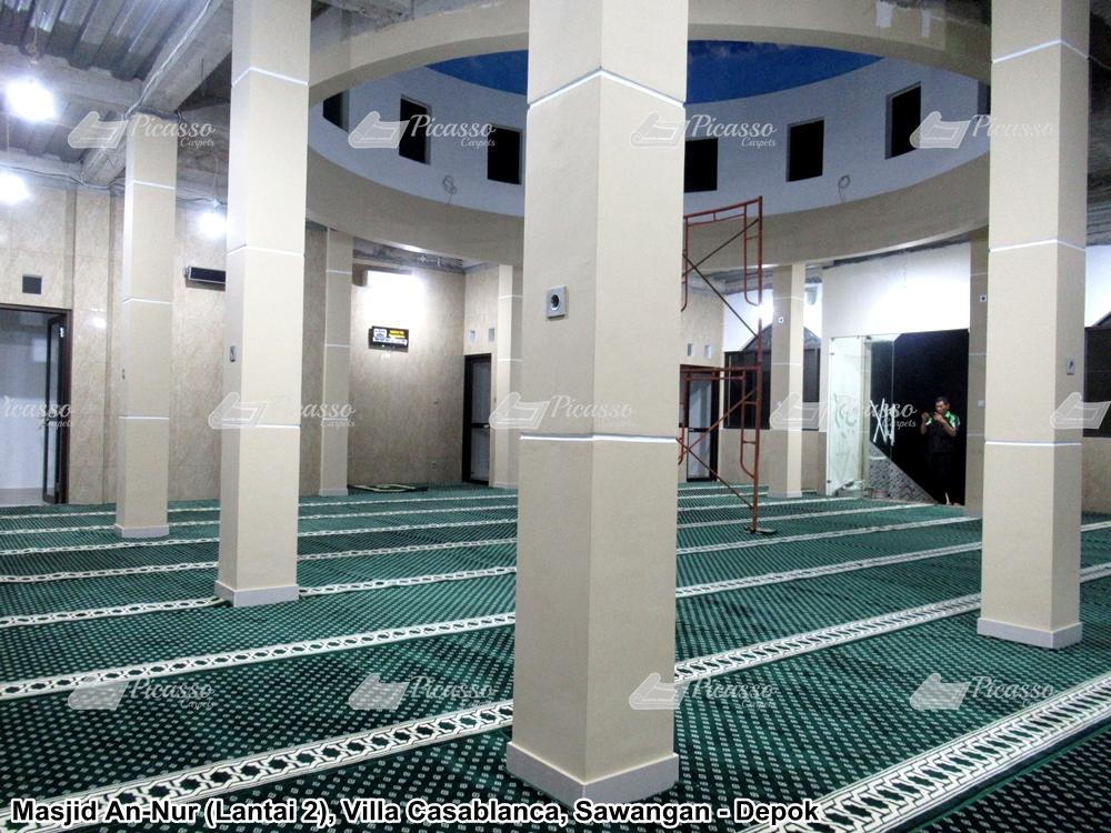 Karpet Masjid An-Nur, Villa Casablanca, Sawangan Depok