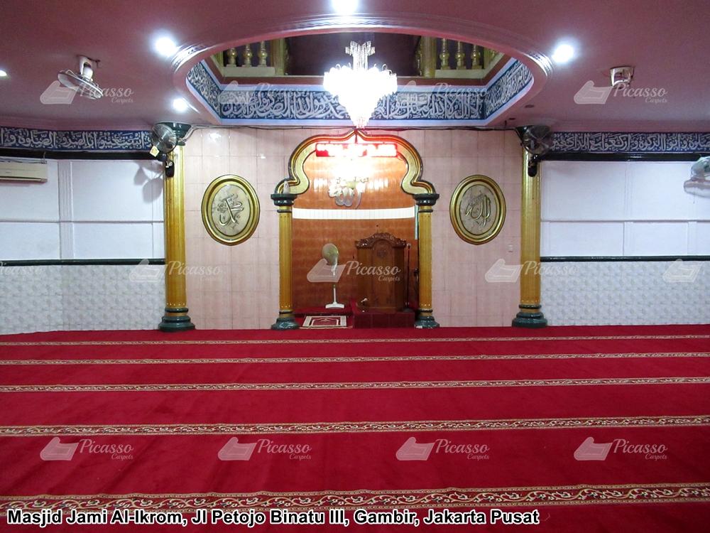 Karpet Masjid Jami Al-Ikrom Jl Petojo III, Gambir – Jakarta Pusat
