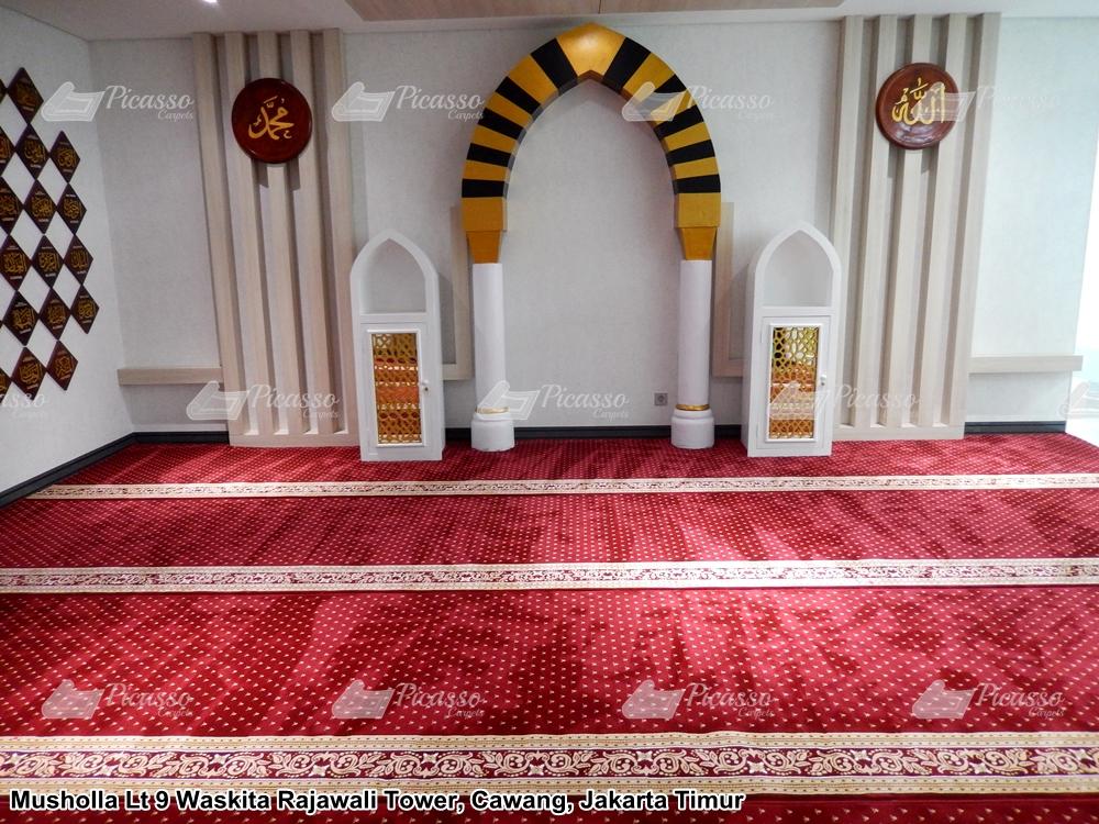 Karpet Musholla Lantai 9 Waskita Rajawali Tower, Cawang – Jakarta Timur.