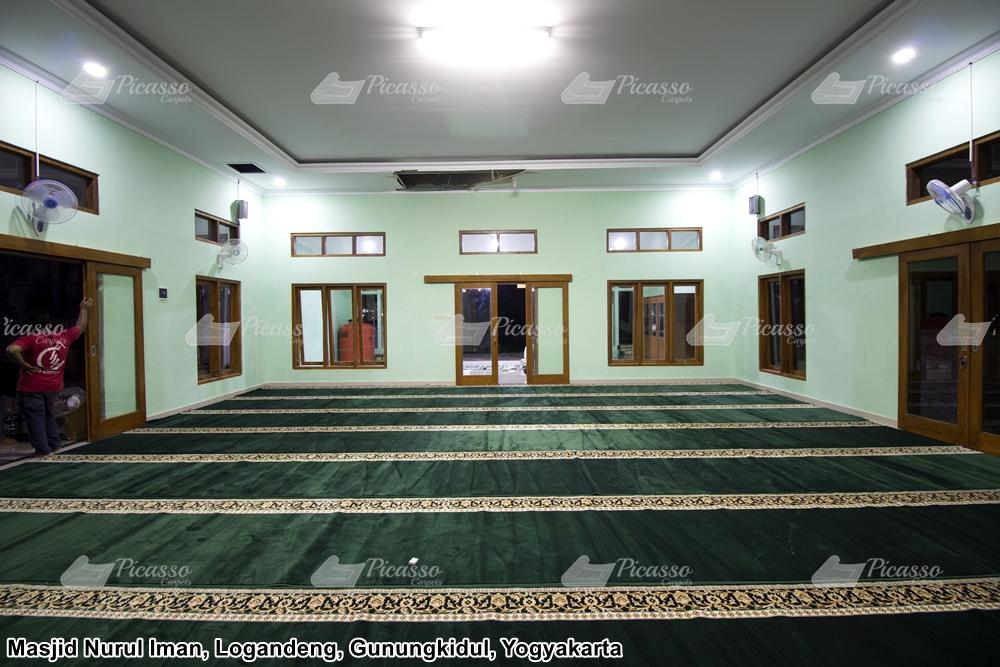 Karpet Masjid Nurul Iman Logandeng, Gunungkidul Yogyakarta