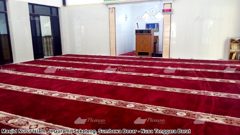 Karpet Masjid Jami Nurul Islam, Jl Gurami, Seketeng, Sumbawa Besar – NTB