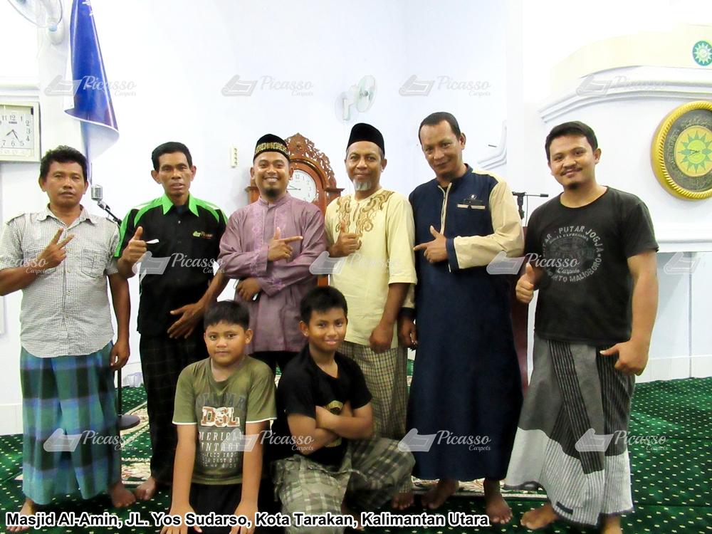 Karpet Masjid Al-Amin, Jl Yos Sudarso Kota Tarakan – Kalimantan Utara