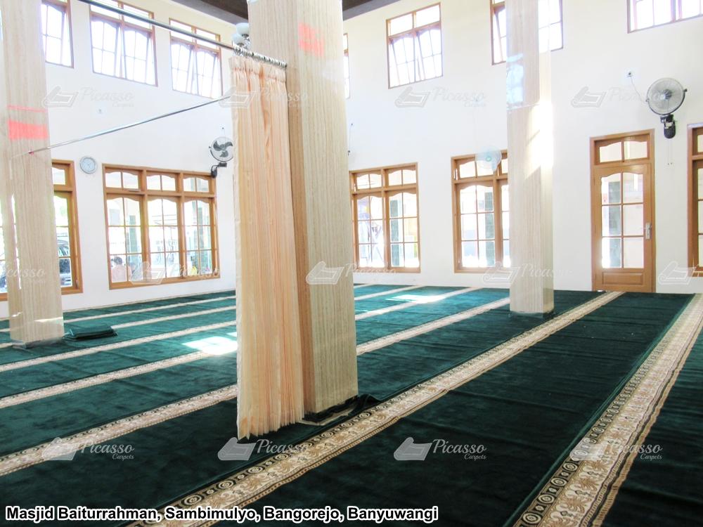 Karpet Masjid Baiturrahman, Sambimulyo, Bangorejo – Banyuwangi