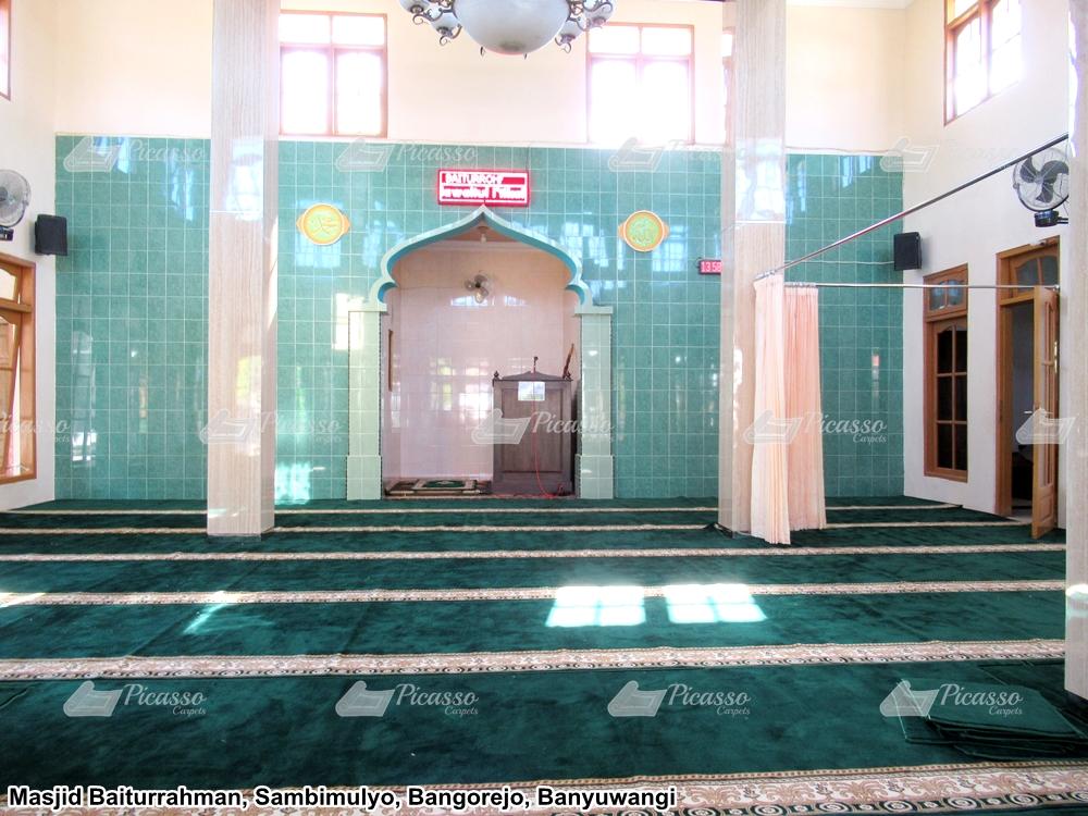 karpet masjid minimalis hijau kuning