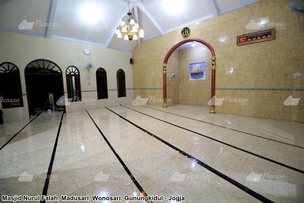 karpet masjid hijau kuning minimalis
