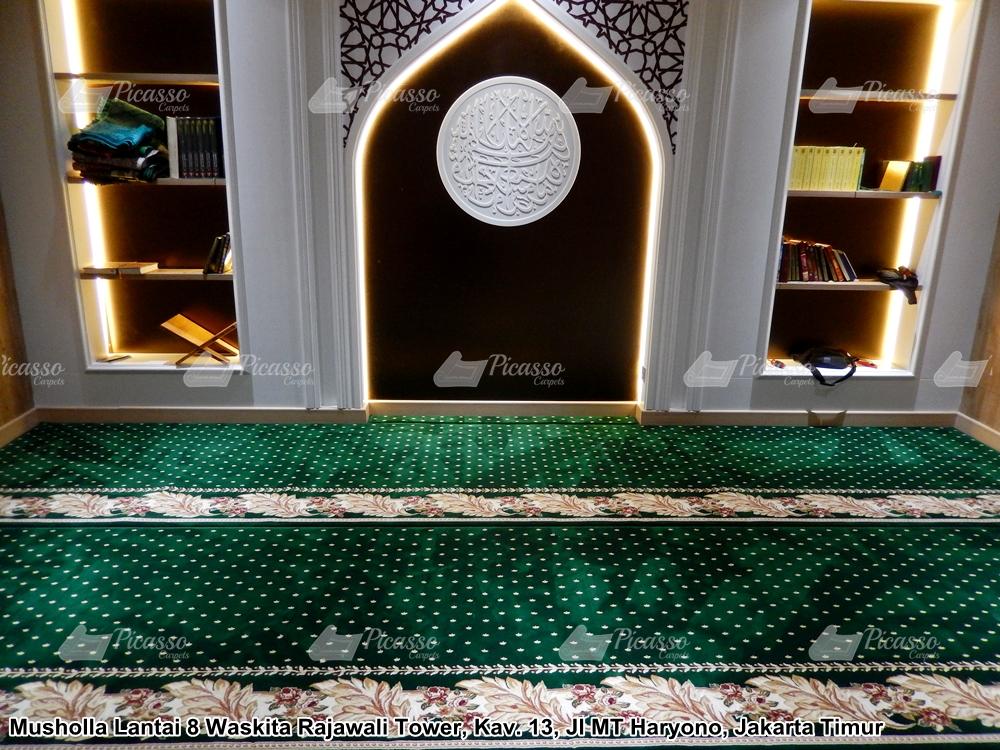 Karpet Musholla Lantai 8 Waskita Rajawali Tower Cawang – Jakarta Timur.