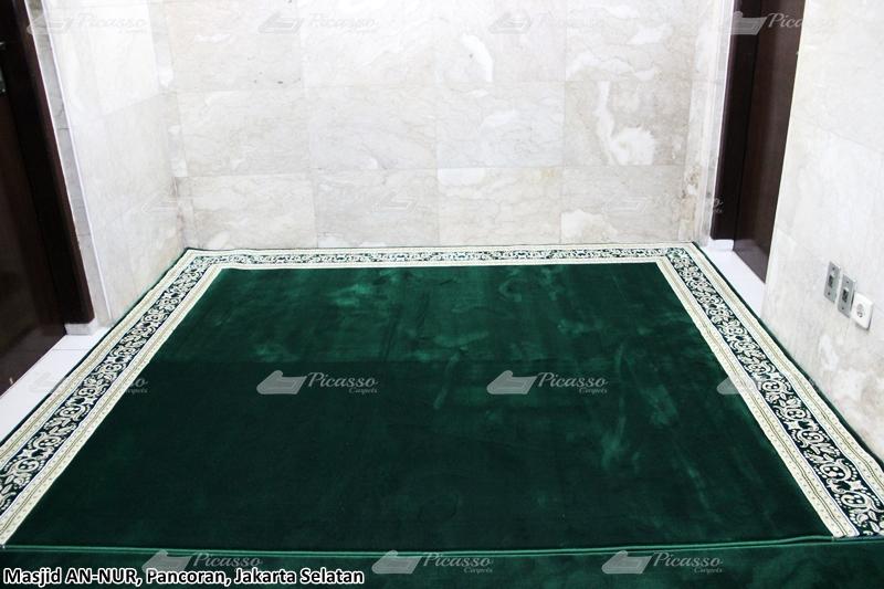 karpet masjid hijau polos minimalis