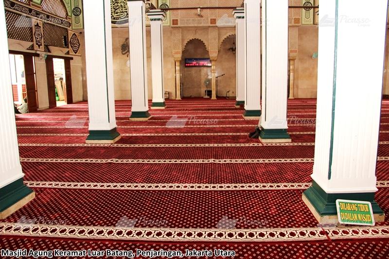 Karpet Masjid Agung Keramat Luar Batang, Penjaringan – Jakarta Utara