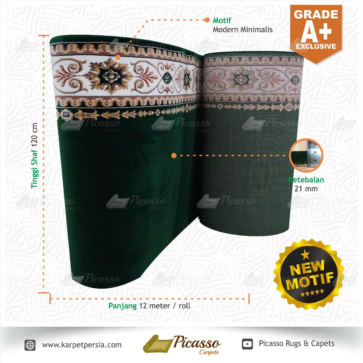 Karpet Masjid Grade A+ Exclusive