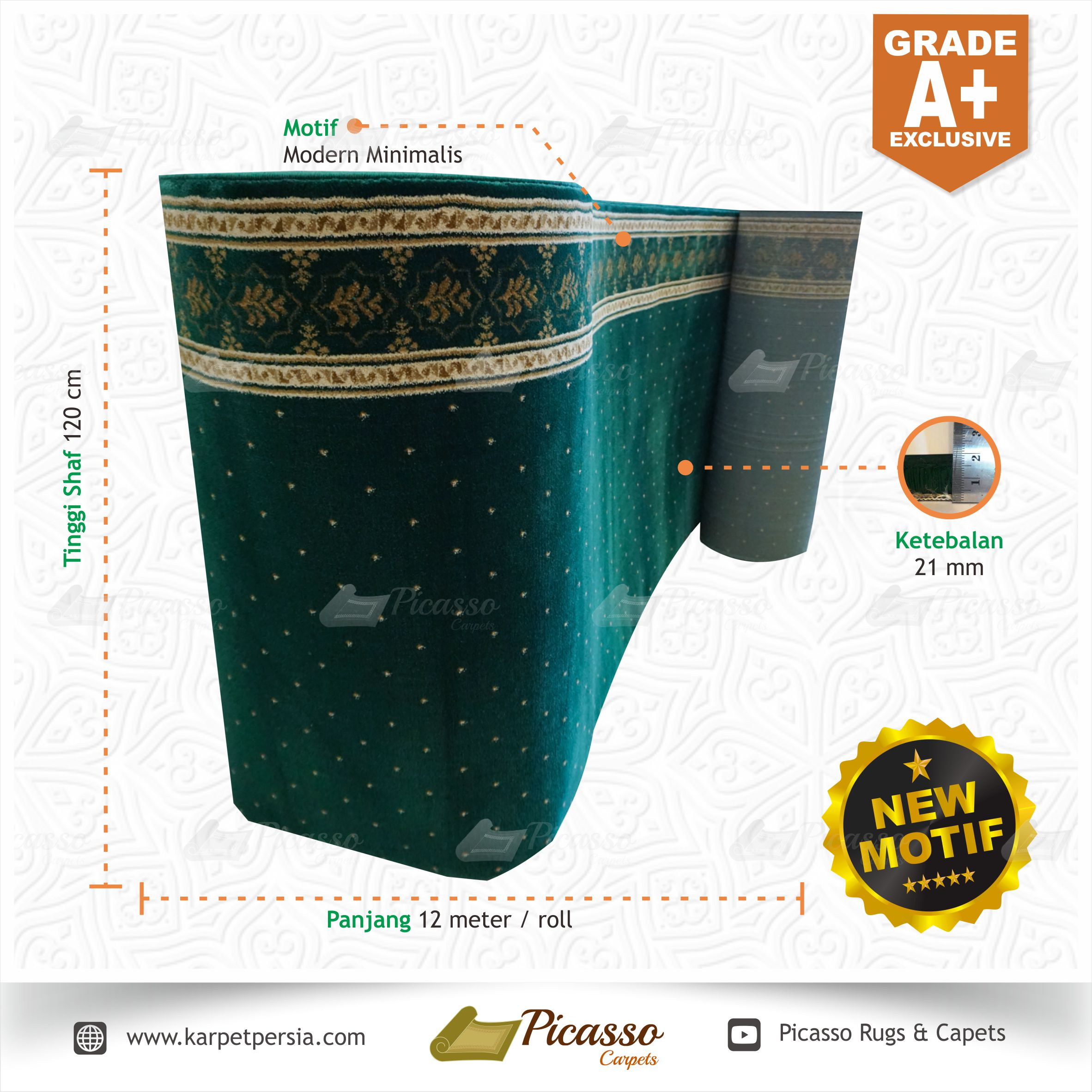 Karpet Masjid New Motif Grade A+ Exclusive (5)