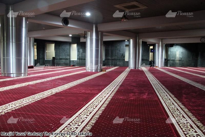Karpet Masjid Yusuf The Energy Building SCBD Jakarta Selatan