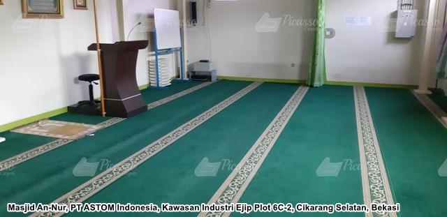 karpet masjid minimalis hijau polos