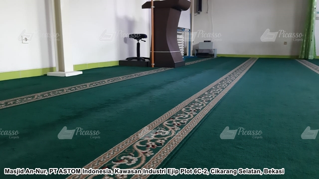 Karpet Masjid An-Nur, PT ASTOM Indonesia, Kawasan Industri Ejip Plot 6C-2, Cikarang Selatan, Bekasi
