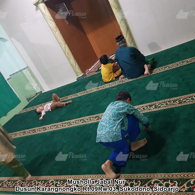 Karpet Masjid di Musholla Jabal Nur Sukodono Sidoarjo
