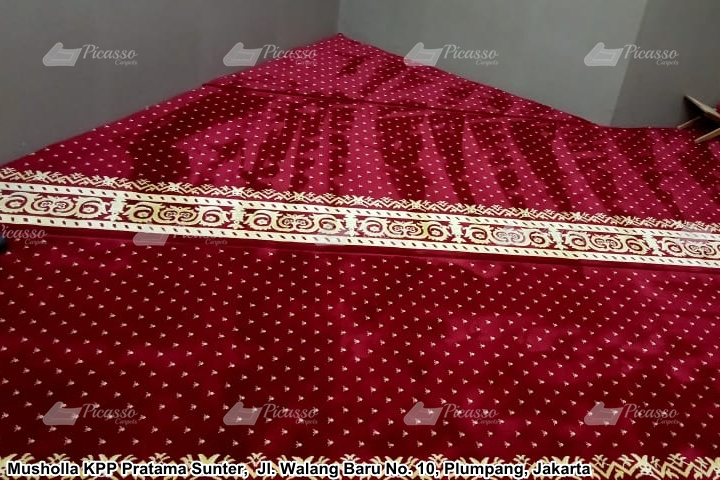 Karpet masjid merah KPP SUNTER