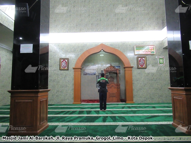 Karpet Masjid Jami Al-Barokah, Grogol, Depok