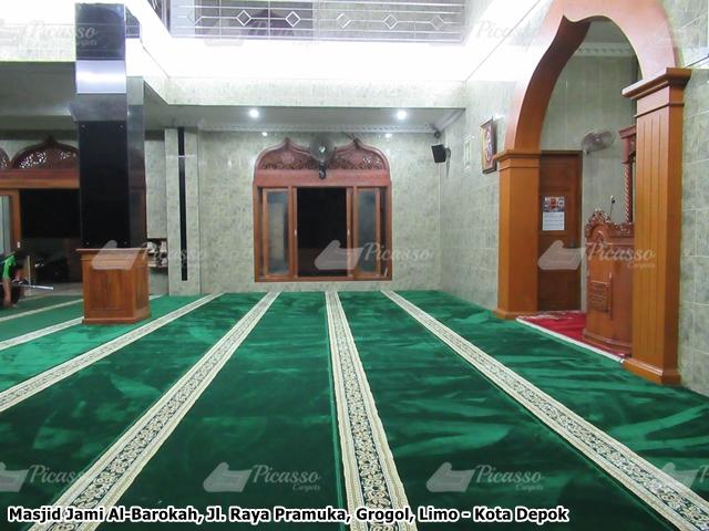 karpet masjid hijau depok