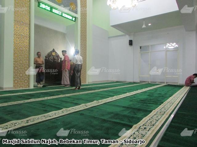karpet masjid hijau sidoarjo