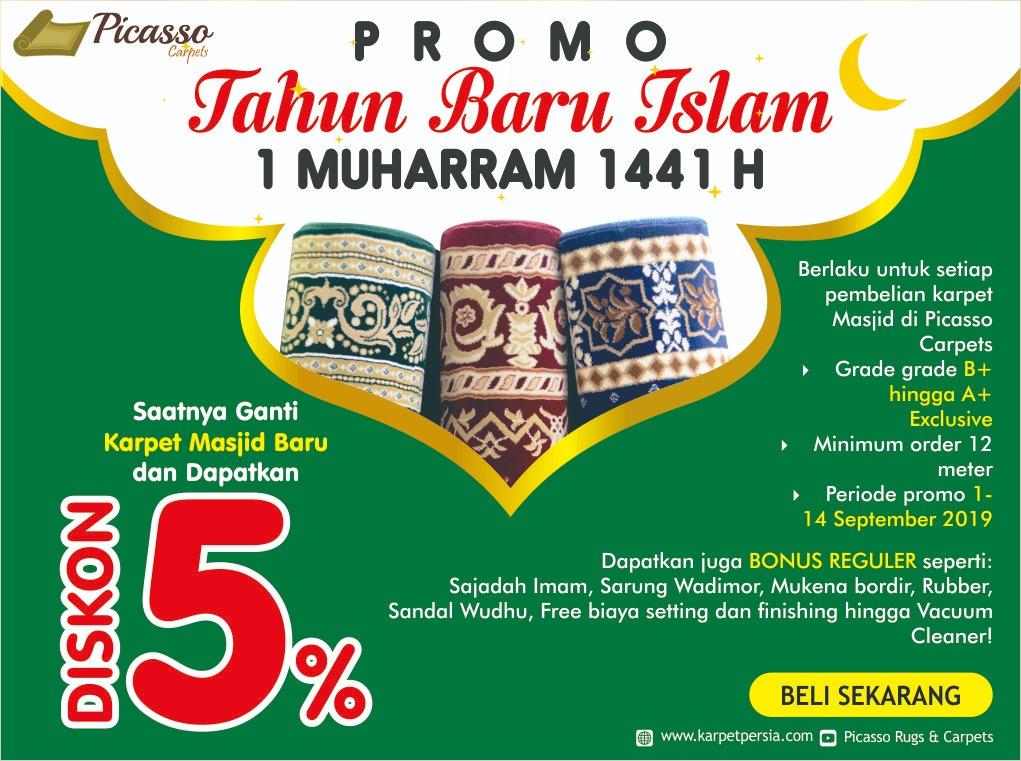 promo karpet masjid picasso muharram mb