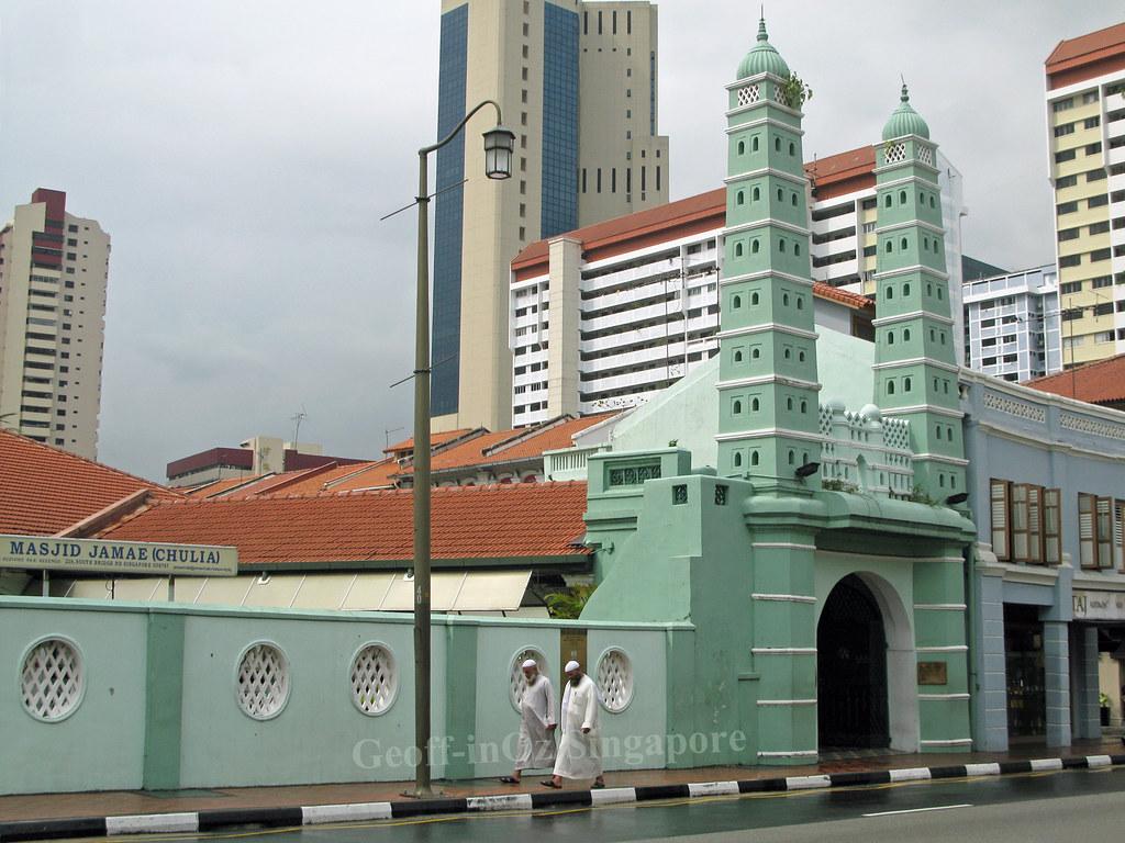 5 Masjid Terbesar di Singapura masjid jamae chulia