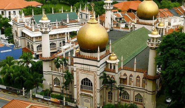 5 Masjid Terbesar di Singapura masjid sultan singapura